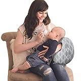 Remelon Boppy Kissen Stillkissen – Stillkissen Armkissen, für Stillen oder Flaschen, weicher Stoff passt sich eng an das Säuglingskissen an, um Mütter beim Stillen zu helfen