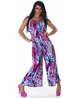 Summery multicoloured jump suit / boiler suit (608-2)