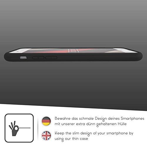 Urcover® Apple iPhone 6 / 6s Schutzhülle transparent mit Rahmen in Schwarz Back-Case Cover Smartphone Schale Schwarz