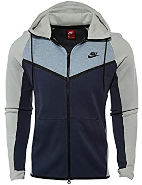 Nike Tech Fleece Chaqueta con capucha - 885904-023, Glacier Grey/Light Bone/Black