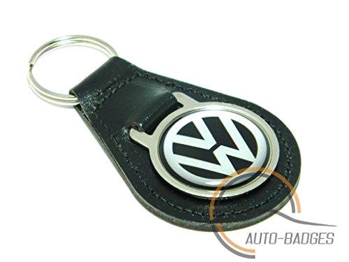 auto-badges Qualité Cuir Noir Porte-clés