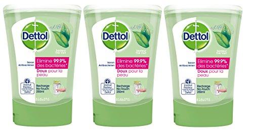 Dettol Savon Recharge pour No Touch Thé Vert 250 ml - Lot de 3