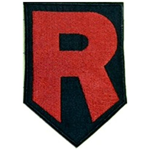 Team Rocket R Patch (10,2 cm) Aufbügeln oder nähen auf Badge Aufnäher Pokemon Go Souvenir Retro DIY Giovanni Kostüm Prepare for Trouble
