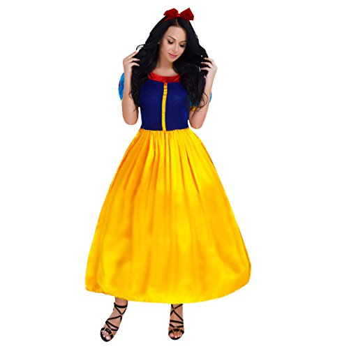 iixpin Damen Prinzessin Kostüm Sexy Kleid Märchen Karneval Cosplay Faschingskostüme Prinzessinnen Outfits mit Haarreif Kostüme ()