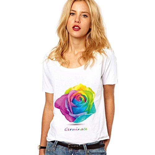 Camisetas Mujer Manga Corta De rosas Verano 2017 Rock Punk Tumblr Tops...