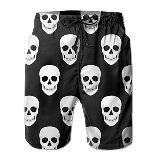 FGHJKL Halloween Holiday Skull Men's Swim Trunks Quick Dry Beach Swim Shorts with Mesh Liner XL (Cruise 2019 Halloween)