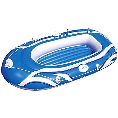 61052 Canotto gonfiabile Bestway di colore blu 197 x 115 cm per bambini e adulti. MWS
