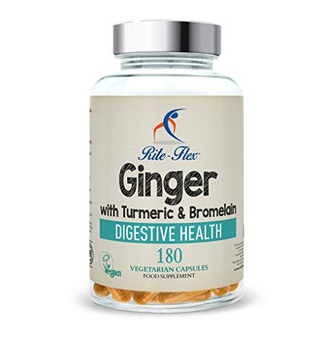 Nouvelle taille! Le curcuma avec le gingembre et le bromelain, 180 capsules végétariennes, formule...