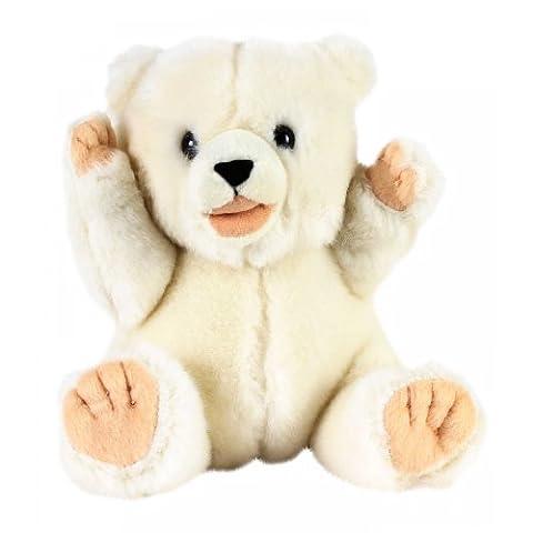 Polar Bear Costume Halloween - 7in Baby Polar Bear Playful Pose Plush