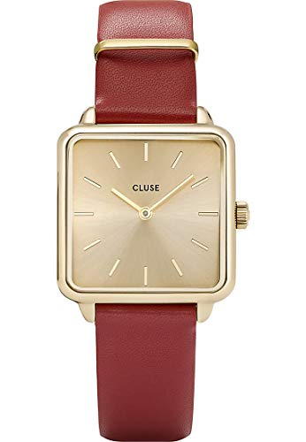 Cluse Damen Analog Quarz Uhr mit Leder Armband CL60009