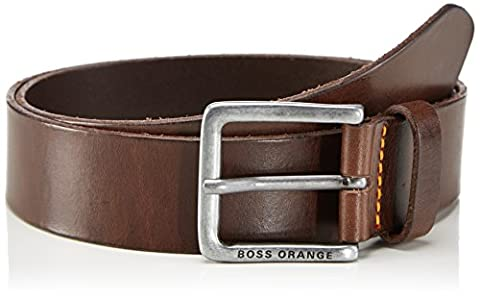 BOSS Orange Men's Jeek Belt, Brown (Dark Brown), 95 cm (Manufacturer size: 100)