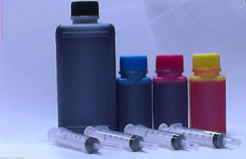 Preisvergleich Produktbild 24,55€/1L 550 ml Nachfülltinte + div. Zubehör Druckertinte Refill Tinte Nachfüll Tinte Refillset Refill Set