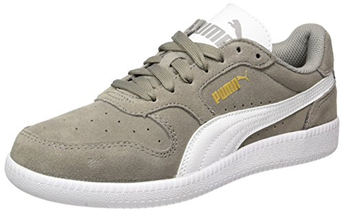 Puma Unisex-Erwachsene Icra Trainer SD Low-Top, Beige (Rock Ridge-White), 46 EU (Rock Leder Weiches)