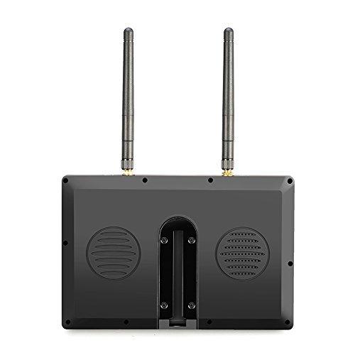 Eachine LCD5802D FPV Monitor mit DVR Dual Empfänge 5.8G 40CH 7 Inch eingebaute Batterie - 5