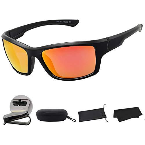 MAXJULI Polarisierte Sportbrille Sonnenbrille Herren Damen zum Laufen Angeln Fahren MJ8014