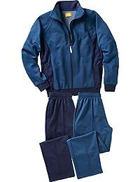 Nordcap Herren Trainingsanzug / Jogginganzug mit 2 Hosen, praktischer Freizeitanzug zum Wechseln, auch in Kurzgrößen und Übergrößen (Größen: 24 - 30 bzw. 48 - 60, Farbe: Blau)