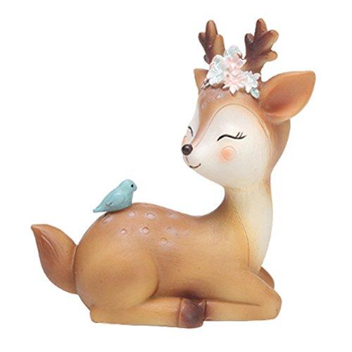 YIJIAOYUN Figura de Ciervo DE 4,3 Pulgadas, diseño de Lunares, Resina, decoración para el hogar o el Escritorio