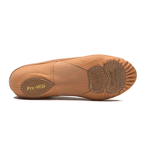 Iwa tela chiaro di danza Beige Pantofole PRO1C modello classica Sansha Scarpe 52adulti in 1C XFRqwqS