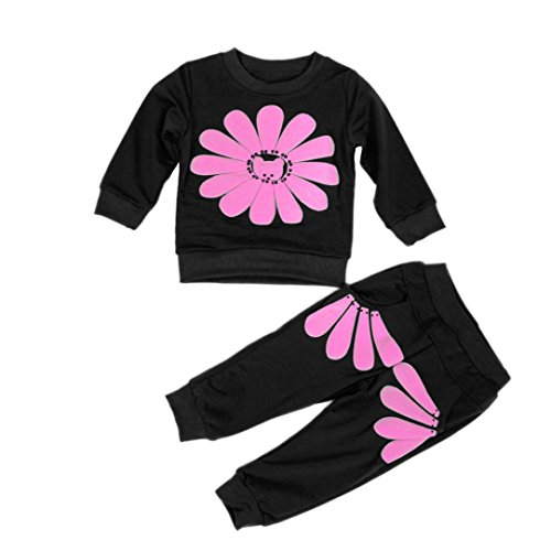 Hunpta 1SET Frühling Herbst Kinder Kleinkind Mädchen Sonnenblumen Shirt + Hose Kostüm Kleidung (Size:110, (Kleinkind Sonnenblumen Kostüme)