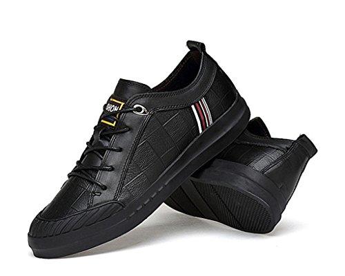 LFEU Homme Chaussure de Sport Fitness Pour Tennis Mode Skate Cheville Loisir Vintage Confortable Tendance 35-47 Noir