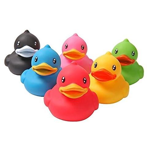 Tia-Ve 6stk. Gummi Ente Quietscheente für Baby Badespa? Kinder Wasserspielzeug