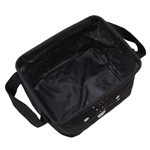 fwehfefh Cartoon Praktische Aufbewahrungsbox Korb Kosmetik Koffer Make-up Tasche Spielzeug Ablagebox Desktop Organizer für Haus Kinderzimmer Büro Aufbewahrung (Schwarz)