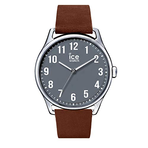 Ice-Watch - ICE time Caramel Anthracite - Reloj marrone para Hombre con Correa de cuero - 013049 (Large)