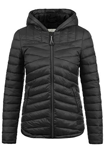DESIRES Quella Damen Steppjacke Übergangsjacke Jacke Mit Kapuze, Größe:XL, Farbe:Black (9000)