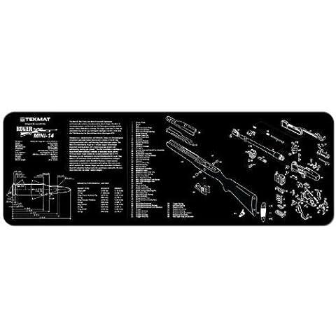 TekMat 12-Inch X 36-Inch Long Gun Cleaning Mat with Ruger Mini 14 Imprint, Black by TekMat (Gun Cleaning Mat)