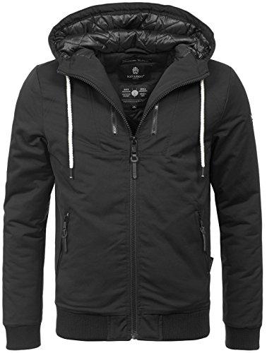 Navahoo Herren Winter Jacke leichte sportliche Jacke robust wasserabweisend Winddicht B623 [B623-Hunter-Schwarz-Gr.XXL]