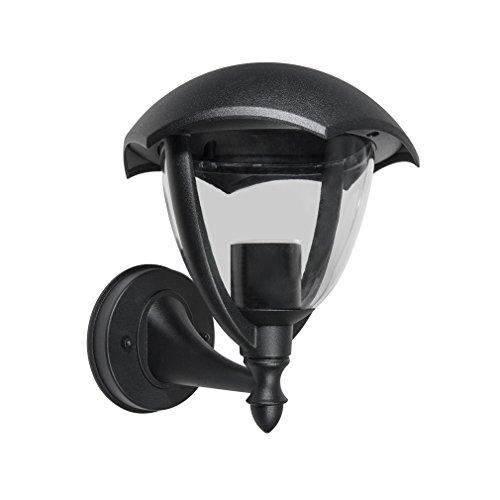 2er J&C® Lampenschirm Led Einbaurahmen Wandleuchtenrahmen Aluminium Gehäuse mit PC Abdeckung für Außenleuchte Wandleuchte Outdoor LED Wall Lamp Frame Φ200*238MM (Ohne Leuchtmittel)
