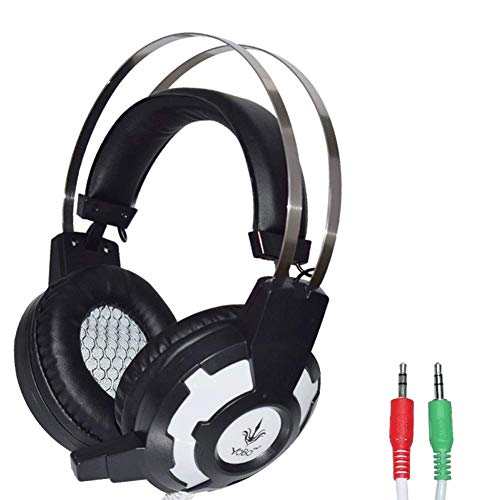 Support-200 Caps (YUNYIN Gaming-Kopfhörer, LED, Geräuschunterdrückung, 3,5 mm, für PS4/PC/Laptop)