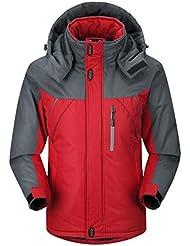 HHORD Ski Jacket épaissi chaud respirant laminé masculine HoodieWaterproof automne chaud et Alpinisme hivernal doudoune coton , 4xl