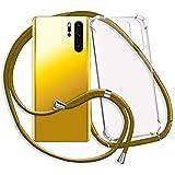 mtb more energy® Handykette für Apple iPhone XS Max (6.5'')   Khaki-Gold   Smartphone Hülle zum Umhängen   Anti Shock Strong TPU Case