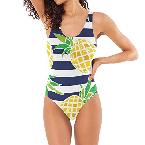 s with Pineapples One Piece Swimsuit Triangle BikiniS ()