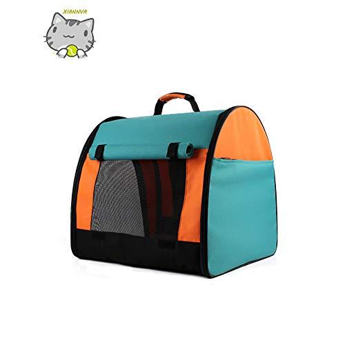 Haustier Rucksack, Canvas Mesh Schulter Oxford atmungsaktiv Falten Sommer Haustier Zelt Outdoor Reise Katze Tasche Teddy Hundehütte - XIANNVA -