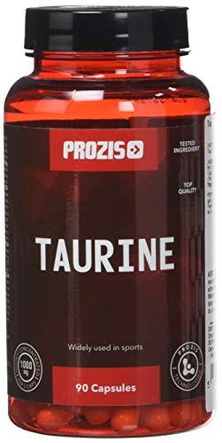 Prozis Taurina Pura - Suplemento de aminoácido 90 Cápsulas, 1500 mg (30 dosis)