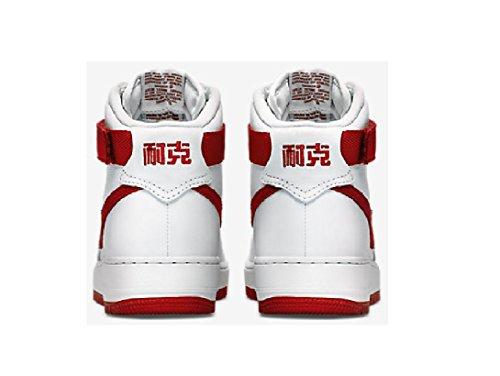 Air Force 1 Hi Retro Qs, vertice Bianco / Lupo grigio, 8 M Us Blanco / Rojo (Summit White/University Red)