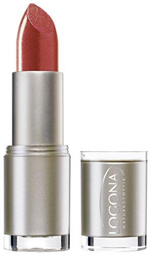 LOGONA Naturkosmetik Lipstick No. 11 Sunny Coral, Natural Make-up, Lippenstift, zart pflegend und sanft schützend, enthält Anti-Aging Wirkstoffe, Bio-Extrakte, 4.2 g -