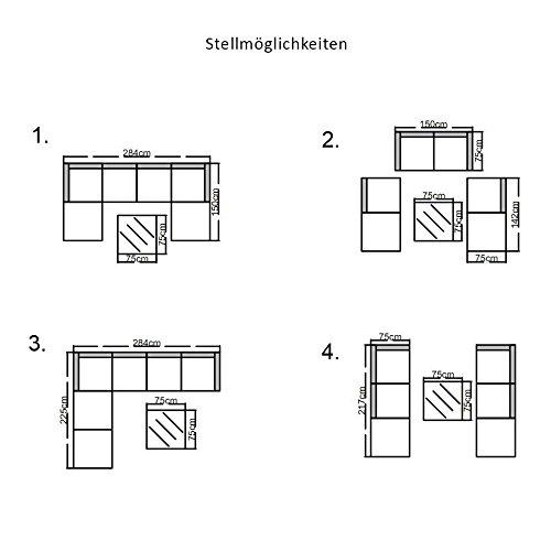 Svita Lugano POLY RATTAN Lounge Garten-Set XXL Sofa-Set Garnitur Gartenmöbel Couch-Set (XXL, Braun) - 5