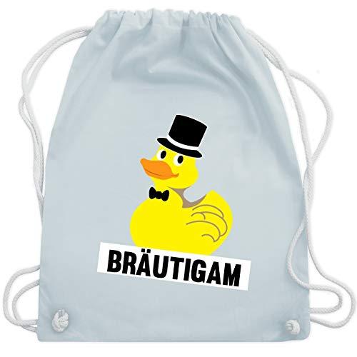 JGA Junggesellenabschied - JGA Bräutigam Ente - Unisize - Pastell Blau - WM110 - Turnbeutel & Gym Bag (Lustige Gruppe Kostüm Ideen Für Männer)