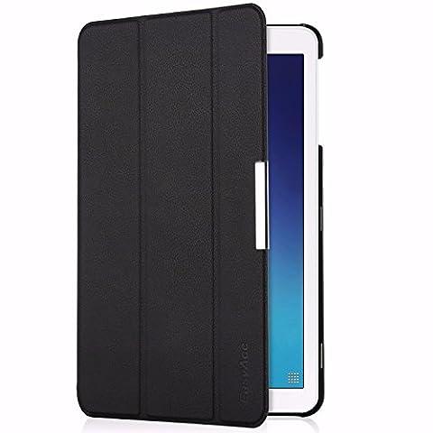 EasyAcc Ultra Dünn Samsung Galaxy Tab E 9.6 Hülle T560/T561 Case - PU Leder Cover Etui mit Standfunktion für Tab E 9.6 T560/T561 (9,6 Zoll) Tablet (Schwarz, Kunstleder, Ultra (Hülle Für Galaxy Tab 3)