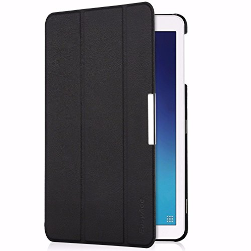 custodia per tablet samsung galaxy tab e EasyAcc Custodia per Samsung Galaxy Tab E 9.6 in Pelle Ultra Sottile con Supporto per Il Samsung Galaxy Tab E 9.6 SM-T560/ SM-T561N Custodia in Pelle Sleeve Custodia Smart Cover - Nero