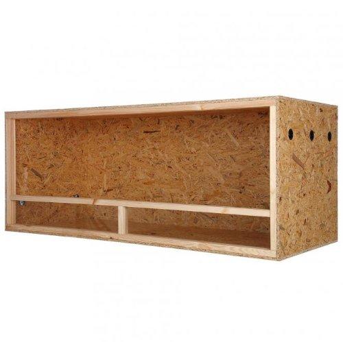 Repiterra® Terrarium aus Holz 150x80x80 cm mit Seitenbelüftung aus OSB Platten mit Floatglas -