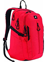 Fastrack Mean Machine Red and Black Casual Backpack (A0335NRD01)