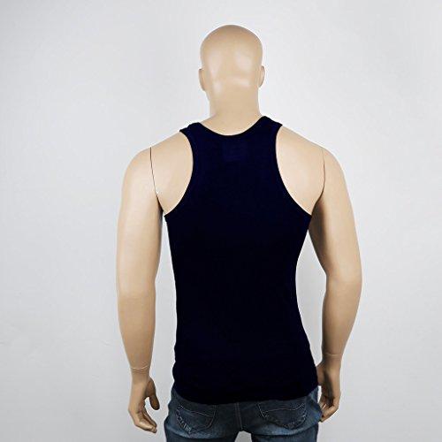 JNTworld Herren Vest Sportlich Ausbildung Fitnessstudio Training Muskelshirt Marineblau