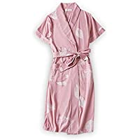 Pyjamas Nachthemden Frauen Sommer Thin Sexy Rock Bademäntel Kurzarm Sommer Baumwolle Kimono Yukata Yukata Lange Schlafen Kleid GAOLILI