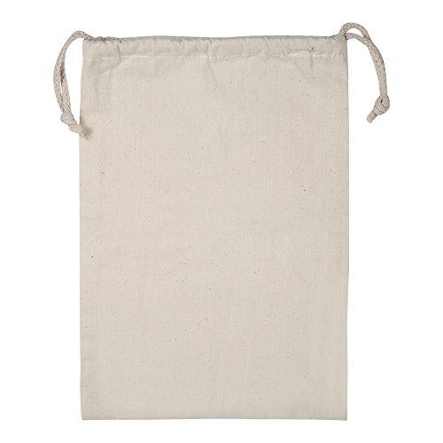 Sacchetti con Cordino in Cotone uso domestico cotone tinta unita cordino sacco portabiancheria Stuff borsa viaggio per uso domestico, 22*28cm