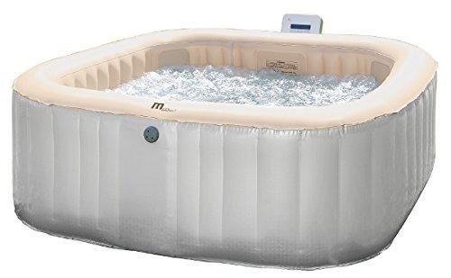 Pool aufblasbar quadratisch 6Sitzer 185x 185cm mit doppelter Massage Luft/Wasser Typ 2017 - Massage Bliss