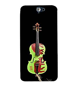 Fuson Designer Back Case Cover for HTC One A9 (The violine theme)
